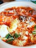 味噌が隠し味♪【白菜が美味しいチーズ味噌トマト鍋】