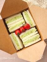 アボカドポテサラとハムチーズのサンドイッチ
