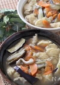 『飲みすぎ食べすぎの胃に♡うどんスープで具沢山すいとん』
