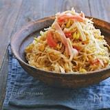 切り干し大根と豆もやしとカニカマの中華サラダ