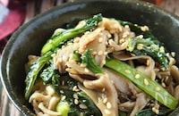 レンチンでお手軽♪舞茸と小松菜のナムル