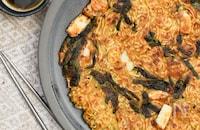 カリッモチ♪ピリ辛海鮮チヂミ麺