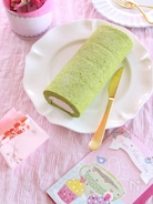 究極しっとりふわふわ!抹茶のロールケーキ