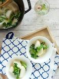 【10分で完成】かぶと菜の花のクリーム煮