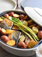 ハーブとレモンが香る♪塩サバと野菜のホットプレートグリル*