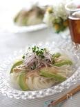 アボカドとツナのわさびマヨ麺