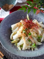 【レンジで簡単】やみつき*白菜とちくわのねぎ塩にんにくナムル