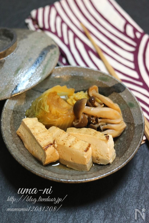 白菜と豆腐の旨煮