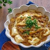 ひき肉と豆腐とお揚げのとろみカレー煮