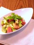 アボカドトマトのアンチョビサラダ