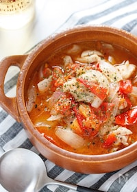 『チキンとトマトのスープ煮(ラタトゥイユ風)【#放置】』