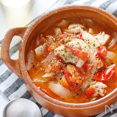 チキンとトマトのスープ煮(ラタトゥイユ風)【#放置】
