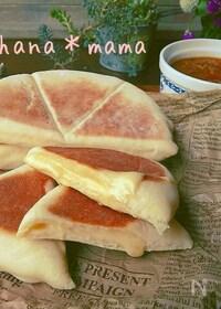 『レンジで発酵♪焼きはフライパン♪チーズナン♪』
