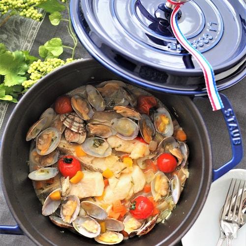 ローズマリー香る♡魚の切り身でアクアパッツア