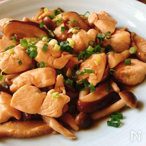 旨みたっぷり♡鶏ささみとキノコのうま煮