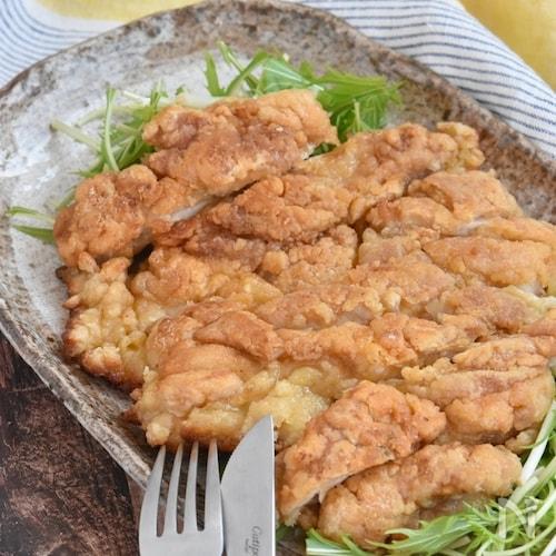 ガーリック醤油のカリカリチキン【冷凍・作り置き】