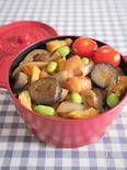 【15分弁当】ごはんが進む!黒酢醤油鶏丼弁当