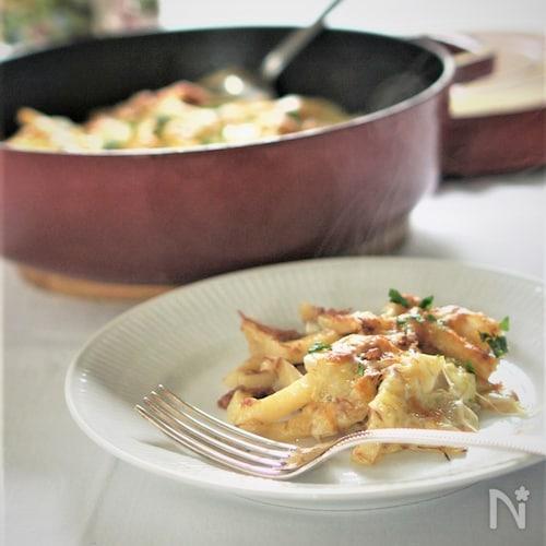 冷凍ポテトと新玉ねぎのマヨチーズ焼き