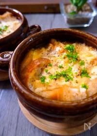 『熱々を食べたい!オニオングラタンスープ』