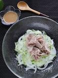 栄養逃さず!新玉ねぎと豚ばら肉のサラダ♪ごまポンドレッシング