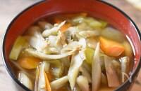 『ささがきゴボウとツナの旨味汁』ほっこり温まる美味しさ♡