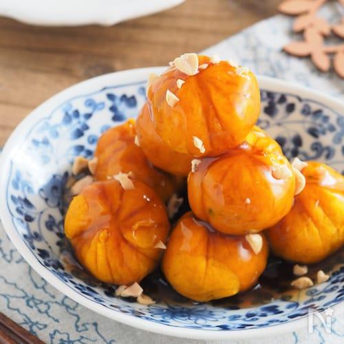 10分で煮物風。みたらしかぼちゃ【レンジ調理・作り置き】