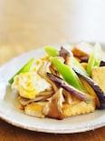 厚揚げと秋野菜の卵炒め