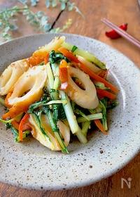 『水菜ひと袋ぺろり!簡単〝水菜とちくわの中華炒め〟』