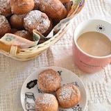 ホットケーキミックスで簡単!♡ヨーグルト黒糖ドーナツ
