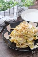 5分で完成!優しい味でネバシャキ旨♡白菜と長芋のごま味噌炒め