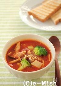 『じゃが芋とツナのトマトスープ 』