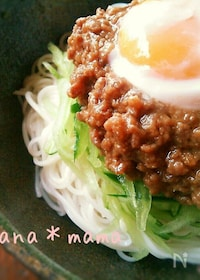 『七夕には素麺♪我が家自慢の甘辛肉味噌素麺♪』
