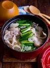 豚バラとキャベツでもつ鍋風スープ【食べるスープ】