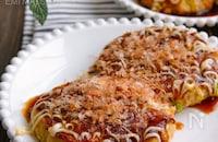 ひき肉と豆腐のお好み焼き風【小麦粉不要!豆腐の水切り不要】