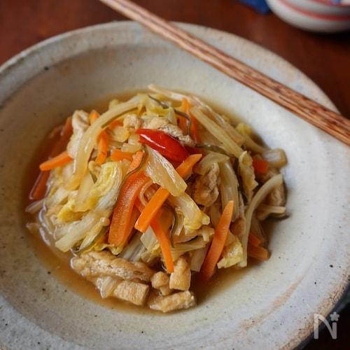 常備菜にも!白菜と油揚げの煮物