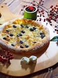 黒豆とゴルゴンゾーラのナポリ風ピッツァ