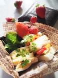 【かんたんお弁当】ピリッとカレー風味のタマゴサンド♪