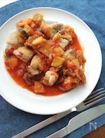 フライパン1つで☆ガーリックチキンの夏野菜トマトソース