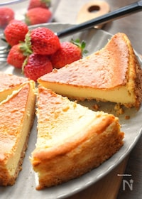 『焼くまで5分♡私史上最高のベイクドチーズケーキ♡』