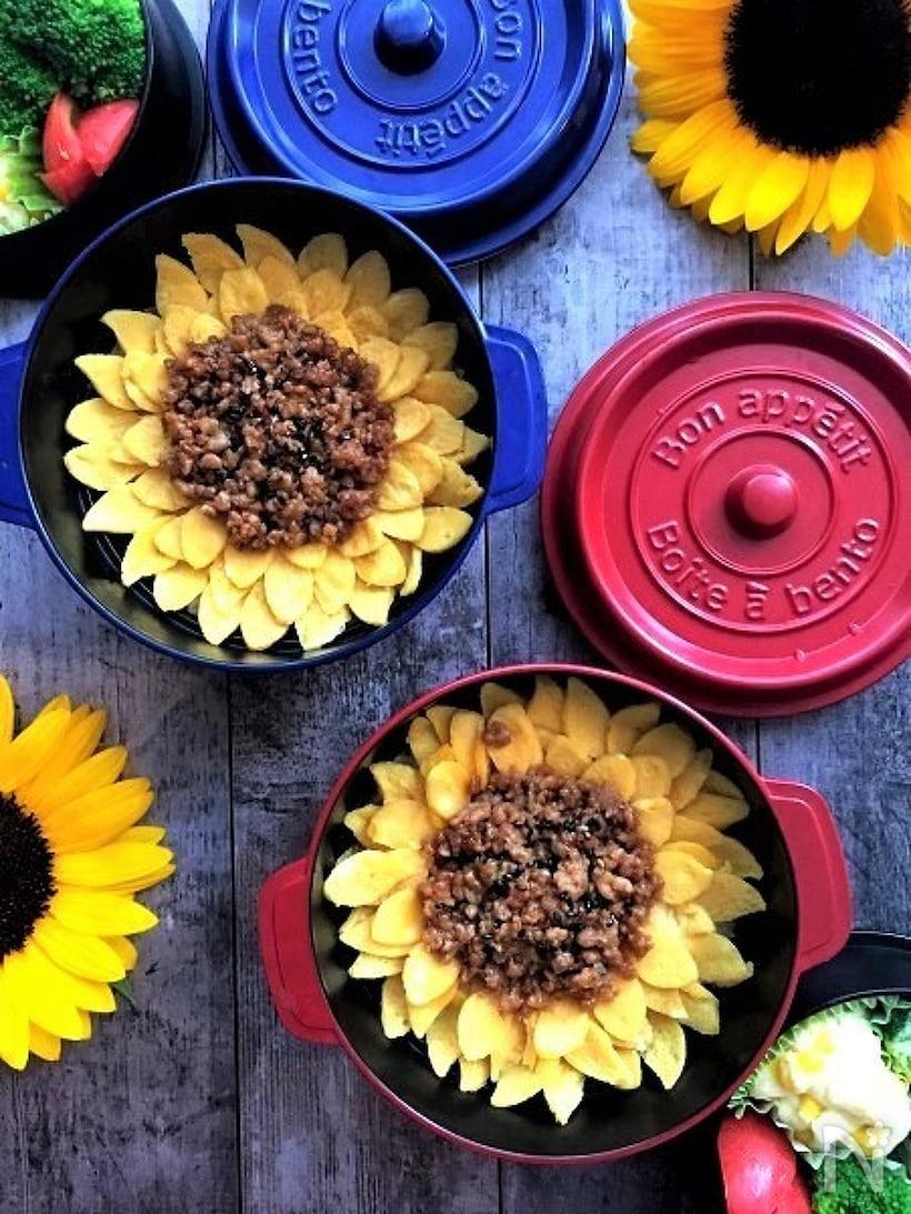 基本的なひまわり弁当の作り方