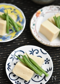 『高野豆腐といんげんの白だしうま煮【作り置き】』