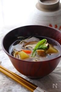 根菜の味方!圧力鍋で作る具だくさんのけんちん汁