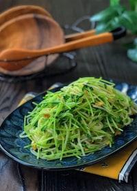 『キッチンバサミで!*豆苗と春雨のツナカレー風味サラダ*』