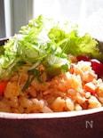 お弁当に~葱ぶっかけ味噌マヨ炒飯〜