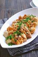 豆腐と鶏肉の卵のおかか炒め
