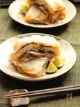蕪と豚バラ肉と塩昆布のはさみ蒸し