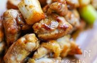 甘辛醤油タレの ♪『香ばしい♪鶏ももとネギのねぎま炒め』
