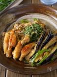 【大葉が超合う】手羽中と茄子ピーマンの生姜たっぷり甘味噌炒め
