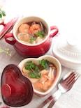 豆板醤とレモンで作るトムヤムクン風スープ