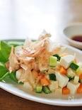 豆腐とパルミジャーノ・レッジャーノ・チーズのコロコロ・サラダ